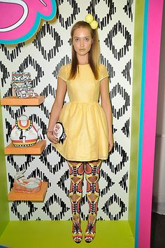 Sophia Webster SS13 - London Fashion Week - We love this look. Cute accessories!