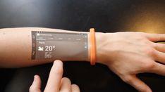 Cicret Es un novedoso dispositivo aun en proyecto que busca una alternativa para evitar tener que sacar el celular en todas partes  Su funcionamiento es simple, conectado vía bluetooth proyecta en el brazo del usuario una vista de la pantalla de su móvil y nos permite interactuar con el mismo