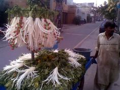 Mooli ( Raddish ) Time -  A mobile mooli (Radish) vendor in Lahore.  Picture : Imran Sadiq - via Explore the Beauty of Pakistan