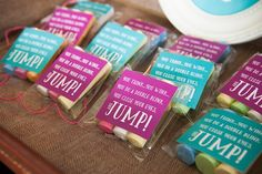Party favors from Mary Poppins Birthday Party at Kara's Party Ideas. See more at karaspartyideas.com!