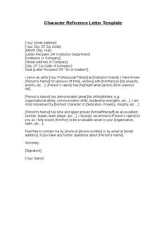 character reference letter for a friend 5 samples of character reference letter template by