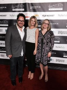 Director Sergio Navarretta, Writer Alessandra Piccione (me) and actor Becky Dalton on the Red Carpet at the TCL Chinese Theatre Carpet Stairs, Theatre, Red Carpet, Writer, Relationship, Actors, Chinese, Modern, Enrico Colantoni