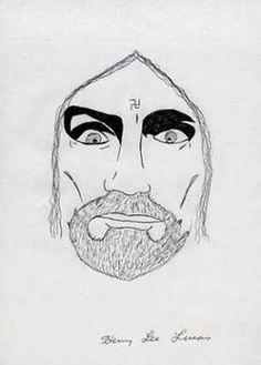 Charles Manson- drawn by Henry Lee Lucas