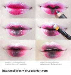 Gradient Lips Vampire version   Pngeeeeen nyobaaaakkk  #gradient #gradientlips #vampire #dark #gothic #gothiclolita #makeup #cosplaytips #tutorialmakeup #cosplaytutorial