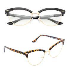 72e7f44b43d7 Women s Classic Eye Glasses Vintage Cat Eye 50s Retro Clear Lens Gold Frame  MFC