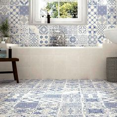 Morroccan Blue and White Tiles