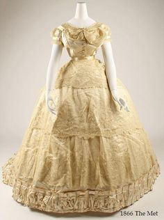1866 Wedding Dress from the collections of the Metropolitan Museum.