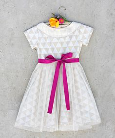 Look at this White Triangles Nellie Dress - Girls on #zulily today!