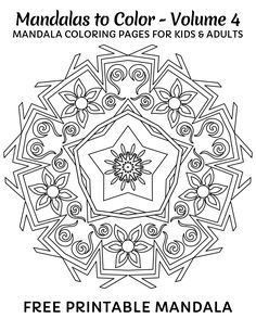 free printable mandala coloring pages for kids click here for 49 more mandalas you can