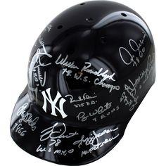 1978 Yankees Multi Signed Yankees Batting Helmet (15 Sigs) (MLB Auth) (Lyle, Gossage, Dent, Jackson, Randolph, Rivers, Chambliss, White, Nettles, Blair, Piniella, McCall, Clay, Rajsich, Guidry) (SSM Multi Signed LOA)
