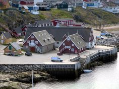 The Greenland National Museum occupies a 1936 warehouse on Kolonihavnen, the old colonial harbor of Nuuk. Nuuk Greenland, National Museum, Countries Of The World, Arctic, Colonial, Cabin, Old Things, Italy, Tours