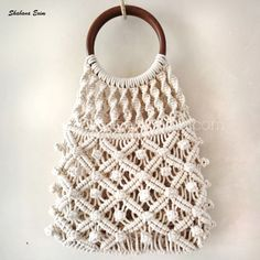 Material :- Cotton Size:- As per Order Model No :- The post Handwoven Sling Shoulder Bags Knit wave Crochet Handbag Tote Bag appeared first on Shabana Exports & Imports. Macrame Purse, Doilies Crafts, Tote Bags Handmade, Boho Bags, Macrame Projects, Macrame Patterns, Crochet Handbags, Beaded Bags, Knitted Bags