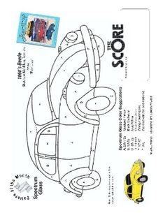 Free Stained Glass Pattern 2185-1960's Beetle