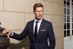 The Bondi Slim Fit suit in Super 140's Pure Australian Merino Wool (navy subtle overcheck).