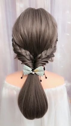 Easy Hairstyles For Long Hair, Braids For Long Hair, Cute Hairstyles, Beautiful Hairstyles, School Hairstyles, Videos Of Hairstyles, Wedding Hairstyles, Easy Party Hairstyles, Brown Hairstyles