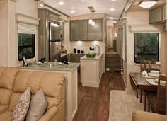 Creative DIY RV Renovation, Hacks, Makeover and Remodel That Will Make Your Camper Living Awesome Again Rv Interior, Interior Design, Interior Ideas, Modern Interior, Interior Inspiration, Remodel Caravane, Do It Yourself Camper, Tyni House, Full House