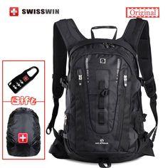 ORIGINAL Swisswin UNISEX Travel Backpack Large Capacity BLACK 15.6 LAPTOP Business Carry On Bag