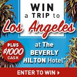 Enter and get a chance to WIN a TRIP to Los Angeles + $1000 Cash with Linen Chest.