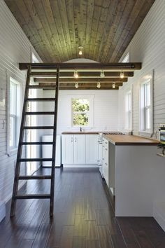I would do a double door in the middle to open up to have a bigger area under an awning over a porch! tinyhouseswoon.com