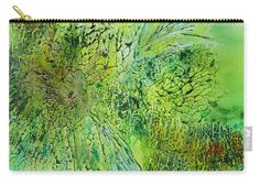 Abstract Art - The colors of Spring Carry-all Pouch by Sabina Von Arx The Colour Of Spring, Spring Green, Basic Colors, Green Colors, Beach Towel Bag, Green Bathroom Decor, Color Show, Colorful Backgrounds, Original Paintings
