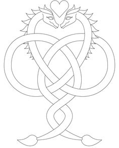 dragons+in+love+images | Dragon Love Coloring Page
