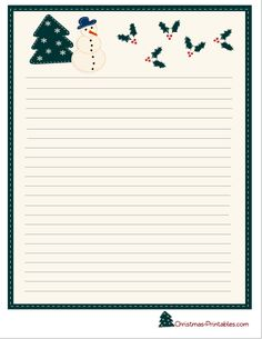free printable christmas stationery paper