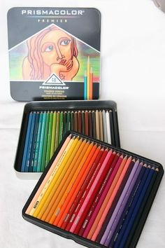 Great info on using colored pencils - Prismacolour. Using baby oil is a great element and cheaper to blend colors vs the odorless mineral spirit. Just place a cotton ball with some drops of baby oil (not drenched) on a small jar and wet stump to blend. Colouring Techniques, Art Techniques, Colored Pencil Techniques, Polychromos, Coloured Pencils, Color Pencil Art, Watercolor Pencils, Watercolors, Copics