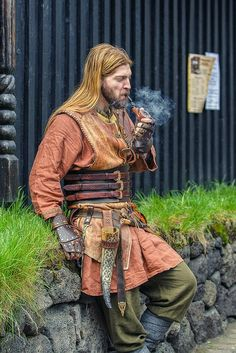 Don't think the vikings smoked a pipe - but good costume............ MR     Empathy Seeker