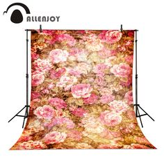 Allenjoy photo backdrop retro vintage flowers noble mystery professional Vinyl background pictures background for photo studio