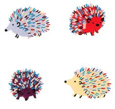 Detail: Happy Hedgehogs. $20.00, via Etsy.