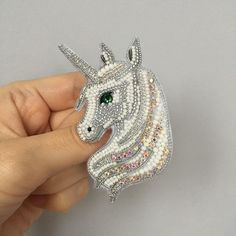 Приветствую всех! У меня ещё один заказной единорожек. Да, мои заказчицы мудрые и просветленные личности, а ещё очень добрые . #брошьединорог#handmade_ru_jewellery#unicorn