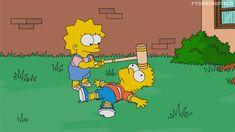 #Gif Simpsons Bart Lisa
