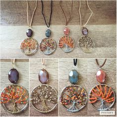New Autumn/Fall Inspired Tree Necklaces