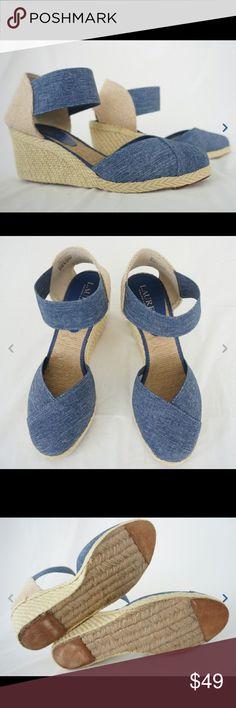 Ralph Lauren RL Charla Women Platform Shoe Brand new in a box. Never worn. Size 8B. fast shipping. Ralph Lauren Shoes Wedges