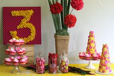 Tissue paper number sign decoration for birthday party