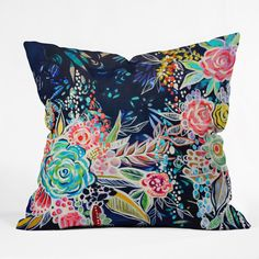 DENY Designs Home Accessories | Stephanie Corfee Night Bloomers Throw Pillow. Beautiful throw pillow