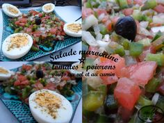 Salade marocaine_tomates, poivrons et oeufs (sel et cumin)