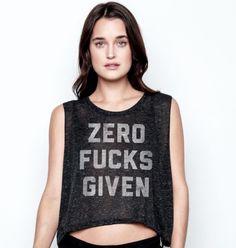 Zero Fucks Given Women's Crop Top Black – Buy Me Brunch