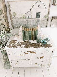 How to get a chippy dresser the EASY way! A great pin for how to paint furniture for a farmhouse look !