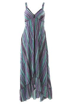 Zig Zag High Lo Maxi Dress Alternative Bridesmaid Dress - Not on the High Street