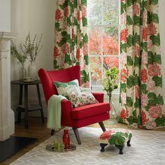 Botanical print living room