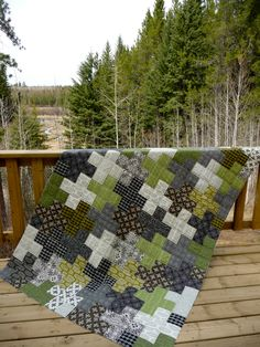 teenage boy quilts | Fabric: Curious Nature by Parson Gray for FreeSpirit fabrics