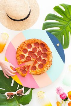 Bring the lazy Susan back this summer + put a colorful new spin on pizza night.