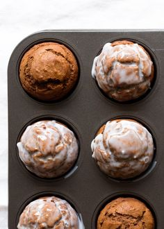 These flavorful pumpkin gingerbread muffins are an update to one of my favorite seasonal treats: the ever-popular spiced gingerbread muffins that I find myself baking up multiple batches of once Autum Pumpkin Recipes, Fall Recipes, Holiday Recipes, Autumn Muffin Recipes, Mini Desserts, Fall Desserts, Gingerbread Muffins Recipe, Gingerbread Cookies, Pumpkin Cookies