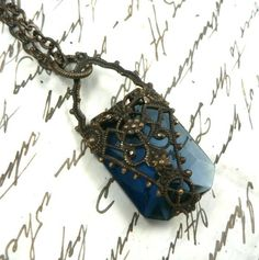 Light of Feanor natural brass filigree necklace inspired by Tolkien's Silmarillion