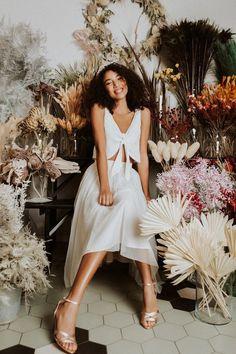 Wadenlanger Tüllrock mit Blush-Effekt - Millie (Foto: Studiofotos: noni, Außenaufnahmen: Le Hai Linh) High Low, White Dress, Couture, Bridal, Hai, Dresses, Blog, Fashion, Unique Dresses