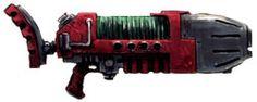 Plasmagun (Mark III Ragefire Pattern) - Necromunda - Warhammer 40K - GW Anime Weapons, Sci Fi Weapons, Concept Weapons, Weapons Guns, Imperial Guardsman, 3d Pixel, The Horus Heresy, Inspirational Artwork, Shadowrun