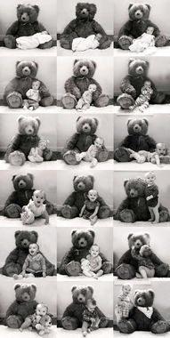 What better way is there to pay tribute to your growing baby and his fave toy than to take monthly photos of the two together? http://thestir.cafemom.com/baby/186711/16_creative_photo_ideas_for/133107/baby_bear/5?utm_medium=sm&utm_source=pinterest&utm_content=thestir