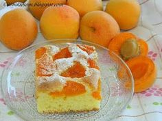 Apricot cake (in slovak) - Hrnčekový koláč s marhuľami, from Iryna Slovak Recipes, Czech Recipes, Czech Desserts, Sweet Desserts, Sweets Recipes, Mexican Food Recipes, Cooking Recipes, Apricot Cake, Apricot Recipes