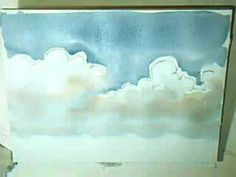 ▶ Aquarell: Cumulus- oder Haufenwolken - YouTube